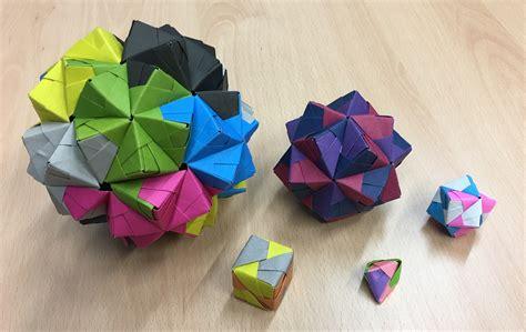 modular origami 12 units modular origami polypompholyx
