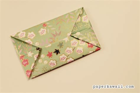 origami simple envelope easy origami envelope tutorial paper kawaii