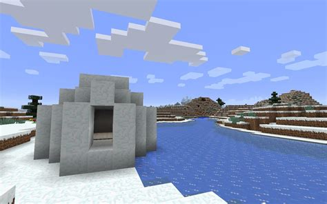 mine craft for igloo with basement on frozen river minecraft seed hq