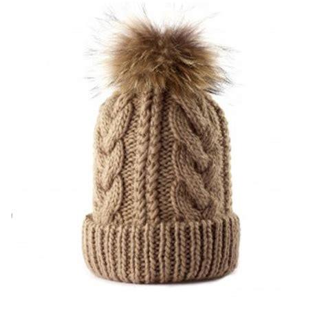 knit hat with pom a cable knit pom pom beanie hat by cielshop