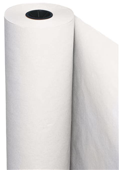 roll of white craft paper pacon white utility paper roll blick materials