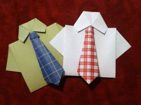 origami tie and shirt origami necktie and shirt card by sweetbloominscraps