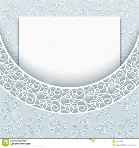 lace templates card lace background greeting card template stock vector
