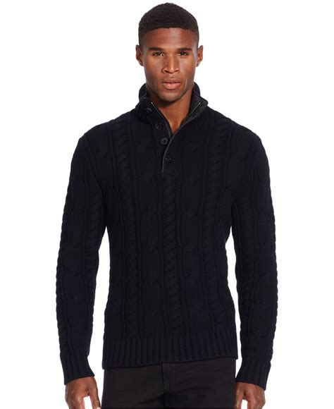 cable knit ralph sweater polo ralph cable knit merino sweater in black for