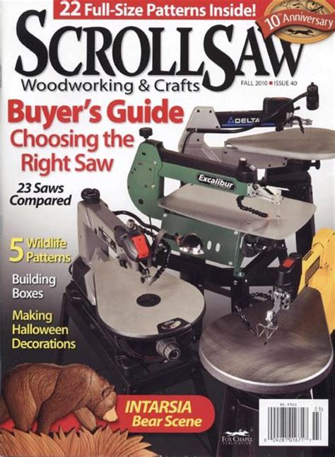 scroll saw woodworking magazine free scroll saw woodworking crafts issue 40 fall