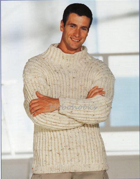 mens chunky knitting patterns mens knitting pattern mens chunky ribbed sweater mens