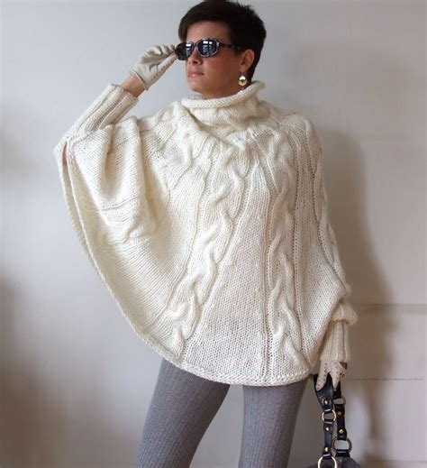 knitted cape knitted poncho braided cape sweaterfall fashion cabled