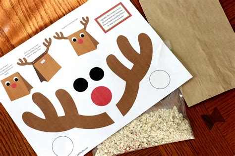 reindeer paper bag craft last minute gifts for and adults craft buds