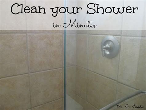 best cleaner for glass shower doors the pin junkie how to clean glass shower doors the easy way