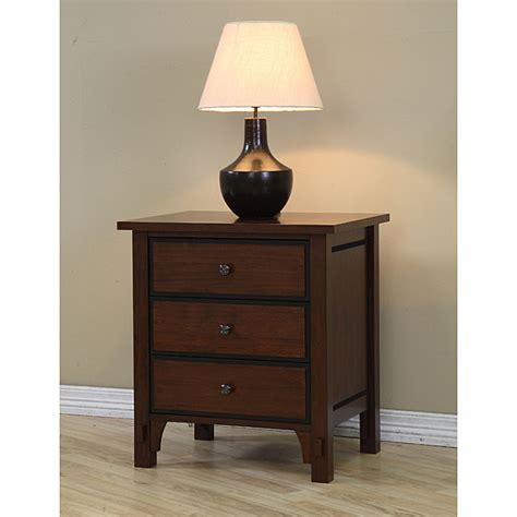 3 Drawer Bedside Table Talisman 3 Drawer Bedside Table Overstock Shopping Great Deals On Nightstands