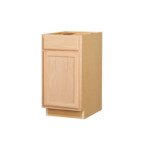 lowes cabinets unfinished shop kitchen classics 35 in x 18 in x 23 75 in unfinished oak door and drawer base cabinet at