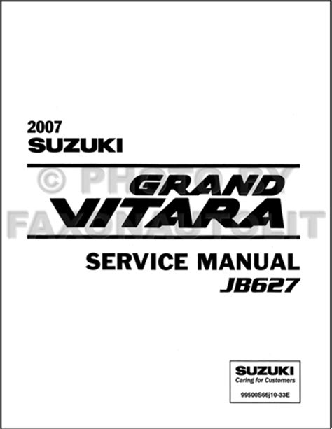 free service manuals online 2007 suzuki grand vitara electronic toll collection 2007 suzuki grand vitara repair shop manual original