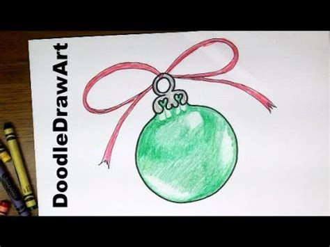 how to draw a ornament drawing how to draw a tree ornament easy