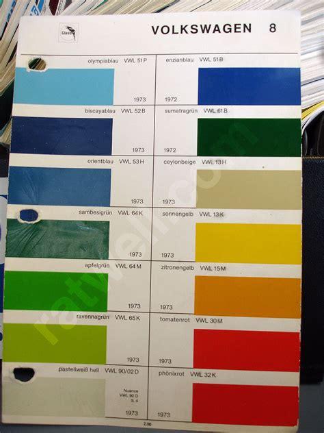 original paint colors vw glasurit paint chips