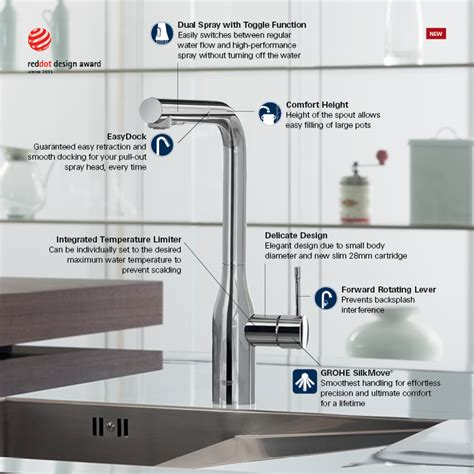 grohe kitchen faucets grohe essence new single single handle kitchen faucet
