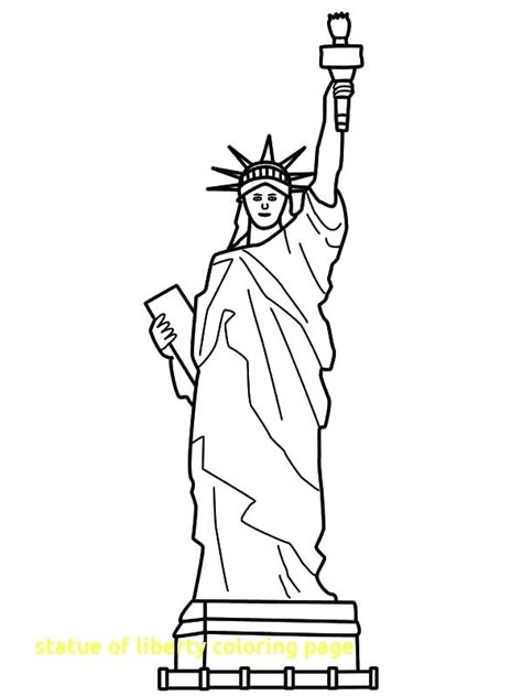 statue of liberty color page statue of liberty coloring