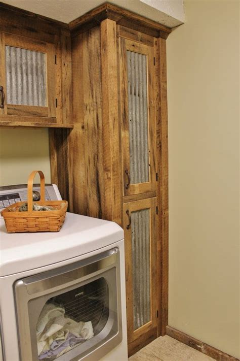 rustic storage reclaimed barn wood cabinet w tin