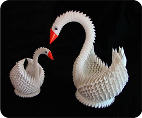how to make a 3d origami swan 3d origami swan free origamii diy origami