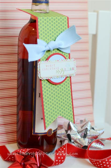 kerrys paper crafts wine bottle tag tutorial kerry s paper crafts