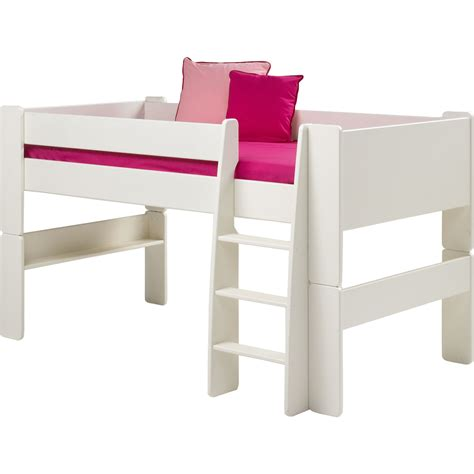 white mid sleeper bed frame steens glossy white mid sleeper bed frame next day