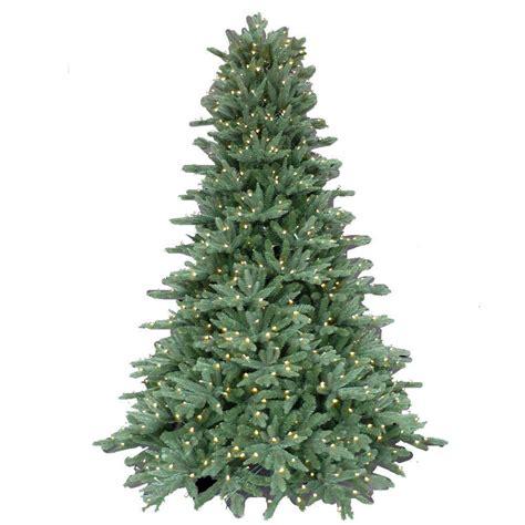 pre lit led lights tree 7 5 ft pre lit led foxtail fir artificial