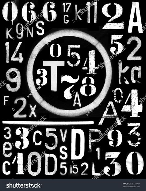 spray paint font numbers spraypaint industrial font number alpha template stock