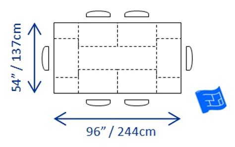 table size for 6 dining table dining table minimum dimensions