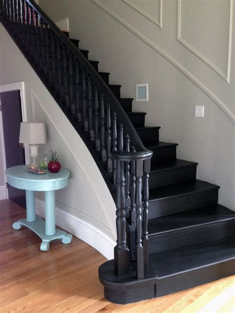 black staircase 25 best ideas about black painted stairs on