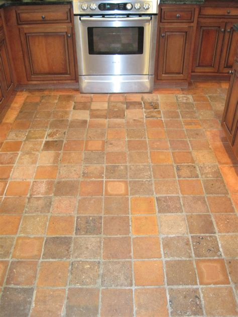kitchen floor tile ideas square brown tile kitchen floor combined with brown