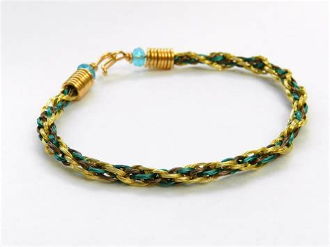 braiding jewelry for a wire bracelet made using kumihimo
