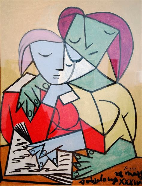 picasso paintings reading armchair of a bookologist reading paint ii