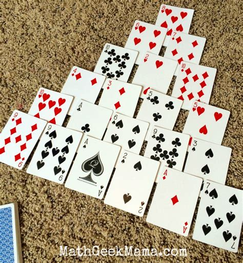 make 10 card pyramid a and easy math card to make ten