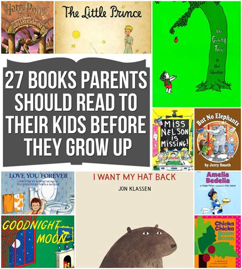 should read 27 books parents should read to their before they grow up