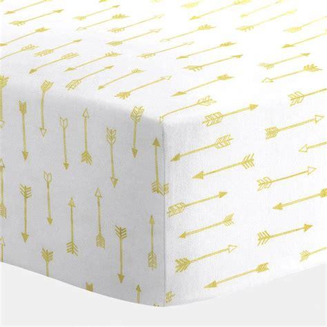 crib bedding sheets white and gold arrows crib sheet carousel designs