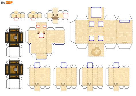 kinds of paper crafts papercraft llama all types with chests