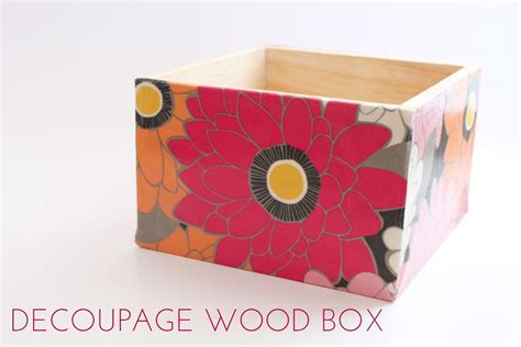 how to decoupage wooden box decoupage wood box thesassylife