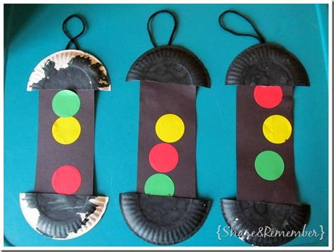 transportation crafts for paper plate traffic lights things to do