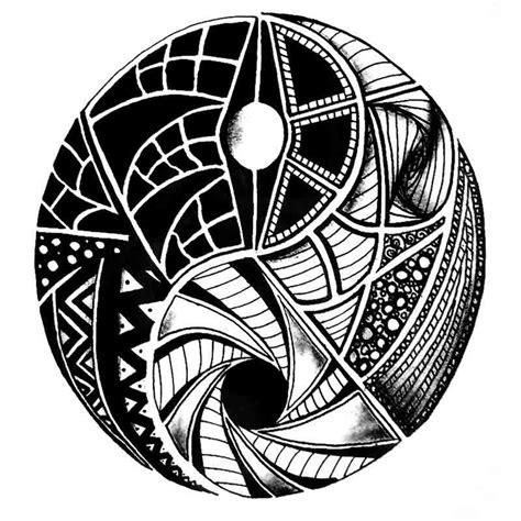 tatouage temporaire mandala yin yang tempo tattoo