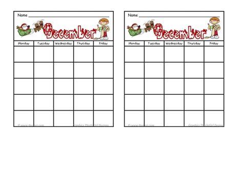 behavior calendar in december calendar template 2017
