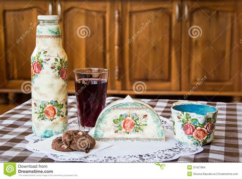 decoupage items decoupage on household items stock images image 37427964