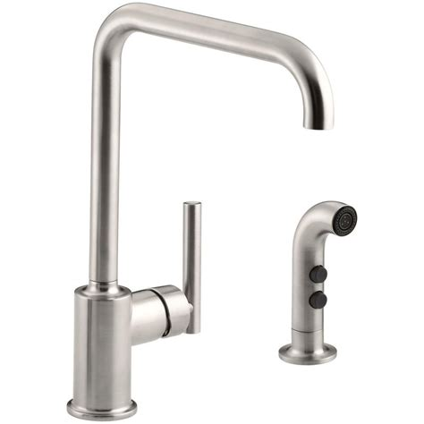 single handle kitchen faucet with sprayer kohler mistos single handle standard kitchen faucet with