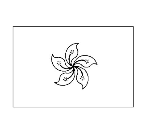 hong kong flag free colouring pages