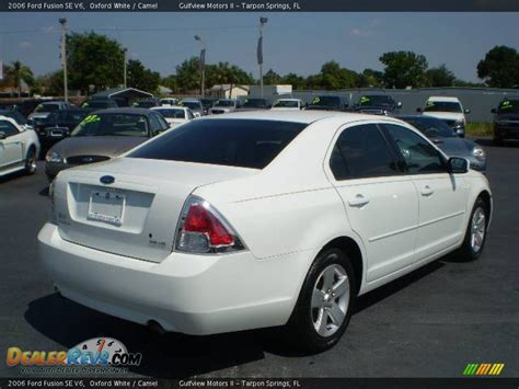 2006 Ford Fusion by 2006 Ford Fusion Se V6 Oxford White Camel Photo 7