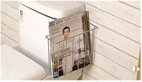bathroom magazine storage rack save space bathroom shelves