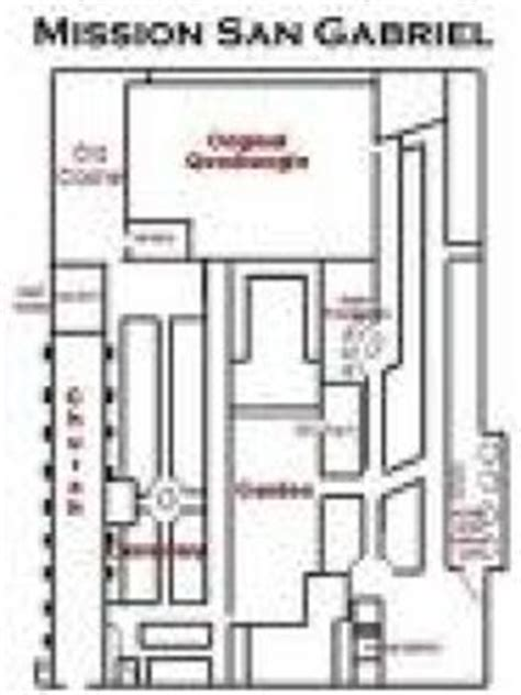 san gabriel mission floor plan california missions project kit california missions and