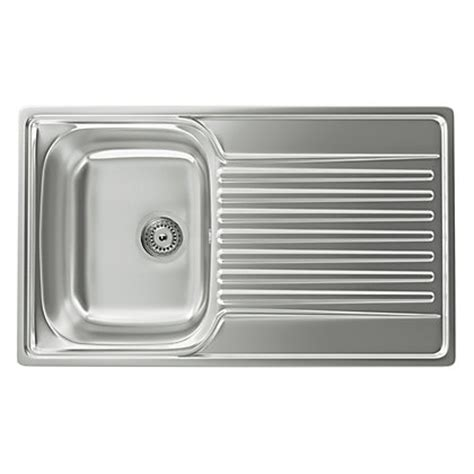 homebase kitchen sinks carron contessa 100 kitchen sink 1 bowl