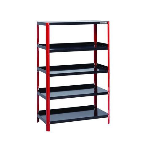steel shelving units craftsman 48 quot wide steel shelving unit black shop