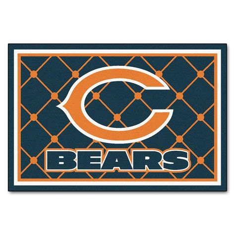 chicago bears area rug fanmats chicago bears 5 ft x 8 ft area rug 6566 the