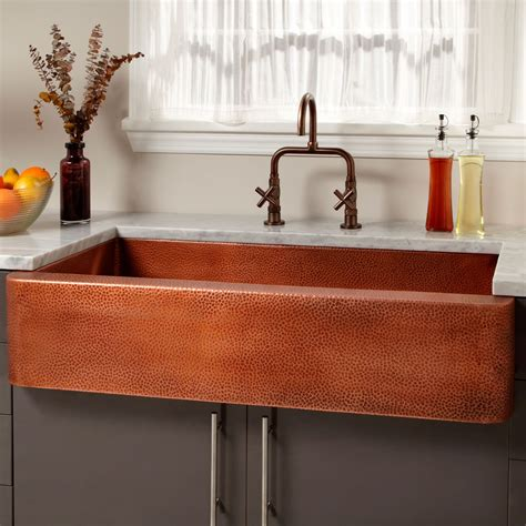 hammered copper farmhouse kitchen sinks 42 quot fiona hammered copper farmhouse sink kitchen