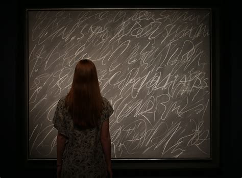 chalkboard painting sold cy twombly blackboard work sells for 30 million at